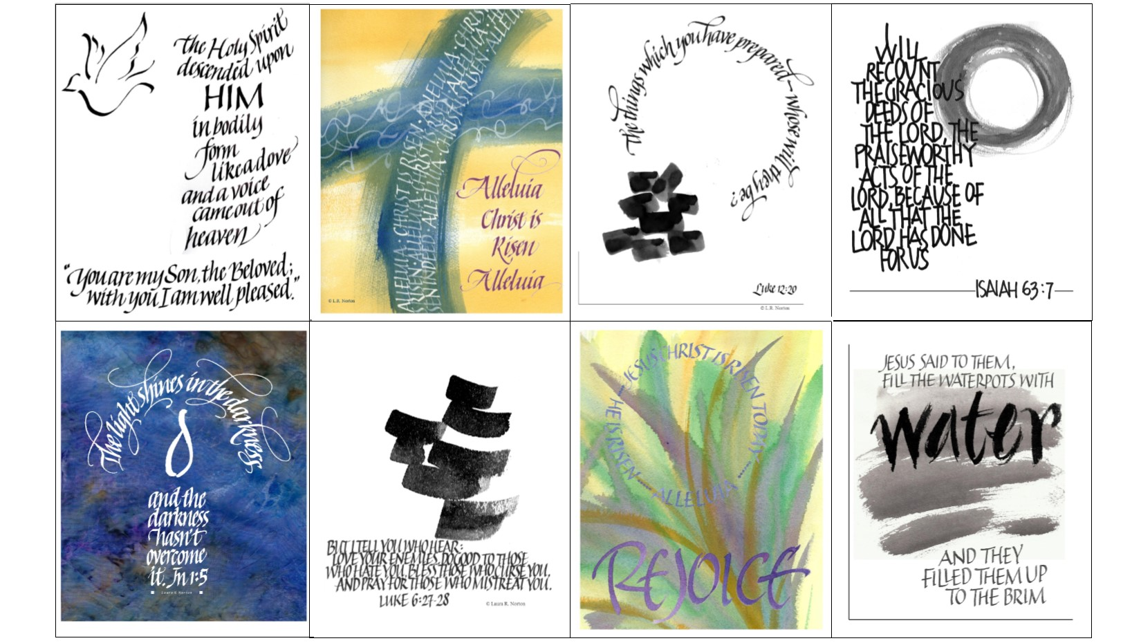Calligraphic Art For The Revised Common Lectionary